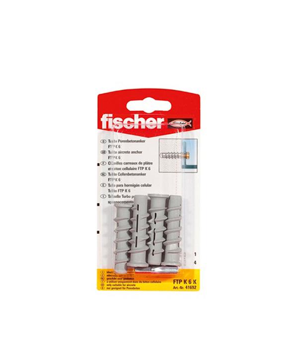 Дюбель для газобетона FTP K6 (4 шт. + бита РН3) Ficher