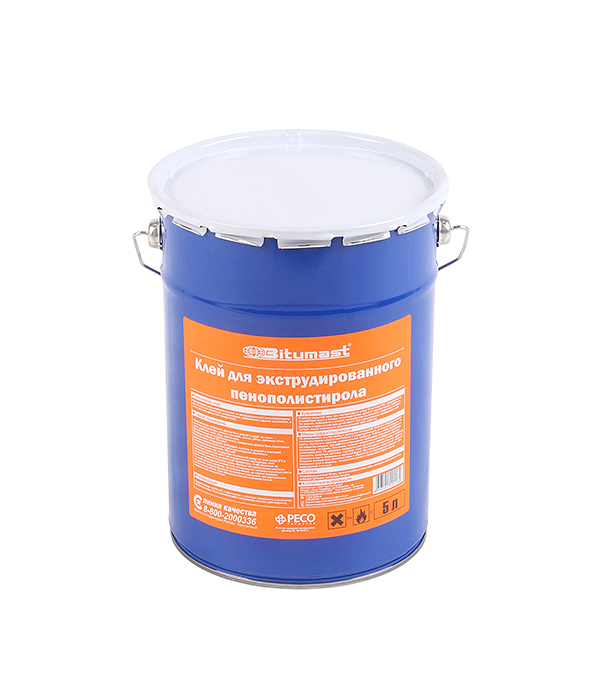 Клей для экструдированного пенополистирола Bitumast 5 л  цена и фото