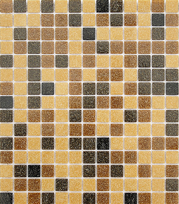 Мозаика из стекломассы 327x327х4 мм Lavelly Yantar/Янтарь (20 шт = 2,139 кв.м)