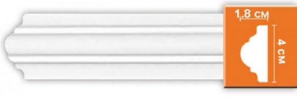 Плинтус (молдинг) из полиуретана 18х40х2400 мм Decomaster