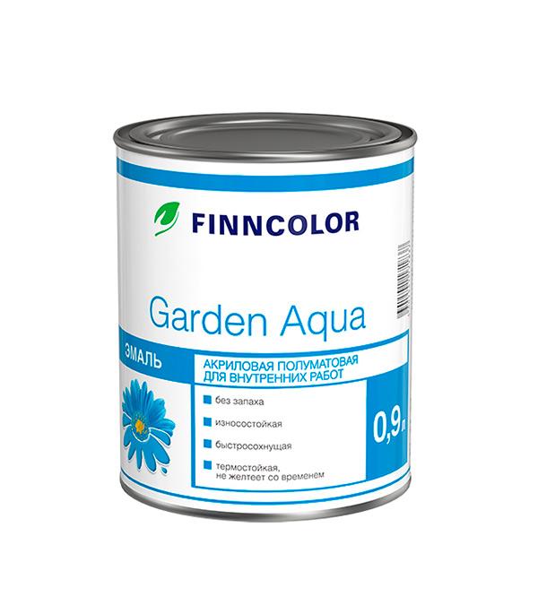 Эмаль акриловая Garden Aqua основа A полуматовая Финнколор 0,9 л моторное масло motul garden 4t 10w 30 2 л