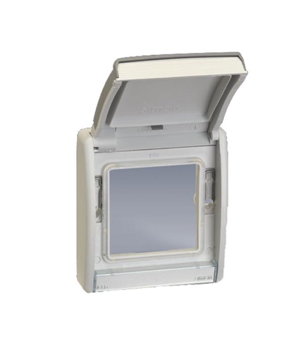 Рамка с открывающейся крышкой под механизмы S27 IP55 S44 Aqua серый