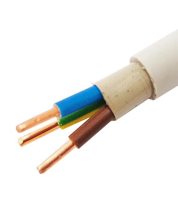Кабель NYM нг-LS 3х2.5 Севкабель кабель nym 3х6 севкабель 100 м