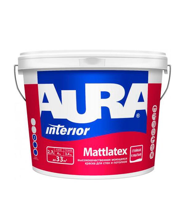 Краска в/д моющаяся Interior Aura Mattlatex основа TR 2,7
