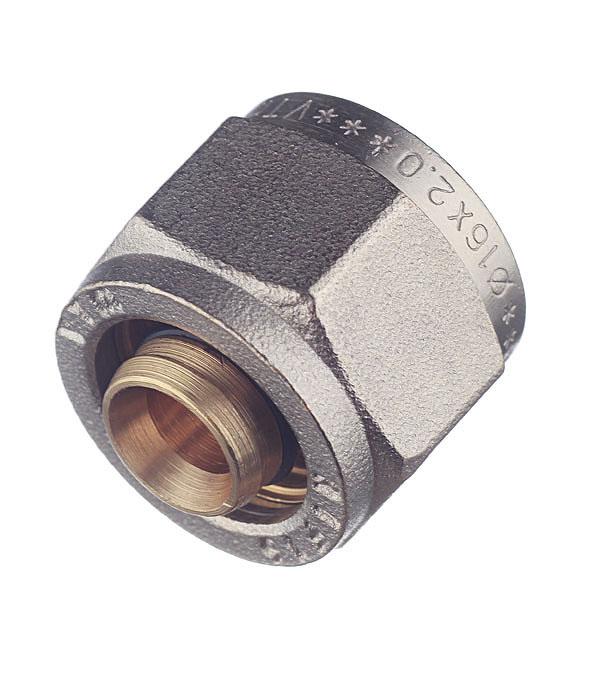 Евроконус Valtec 16 обж(ц) х 1/2 внутр(г) для металлопластиковых труб евроконус 16 обж ц х 3 4 внутр г для труб из сшитого полиэтилена valtec