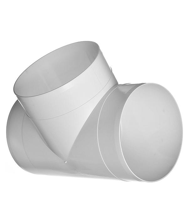 Тройник для круглых воздуховодов пластиковый d100 мм, 90°