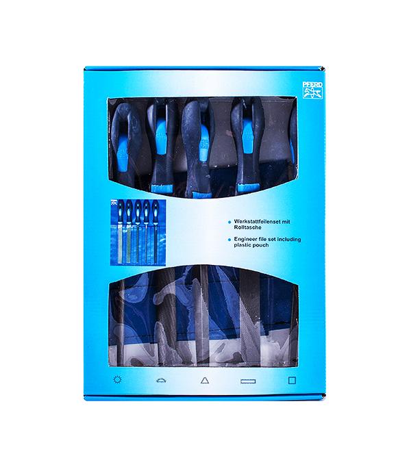 Набор напильников по металлу 200 мм Pferd набор прецизионных напильников с ручкой 6 шт 152 мм truper lijo 6x 15240