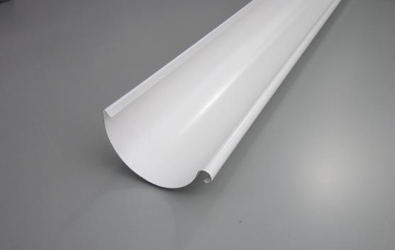 Желоб водосточный металлический 125 мм, белый 3 м Grand Line