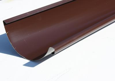 Желоб водосточный металлический 125 мм, коричневый 3 м Grand Line