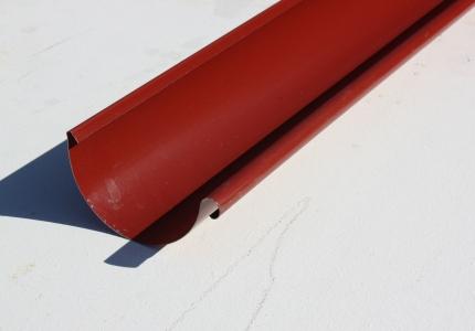Желоб водосточный металлический 125 мм, красный 3 м Grand Line