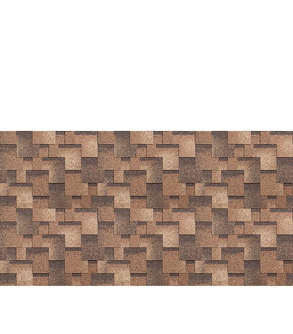 Черепица битумная ШИНГЛАС серия Классик, коллекция Кадриль, аккорд, 3 м.кв., сандал