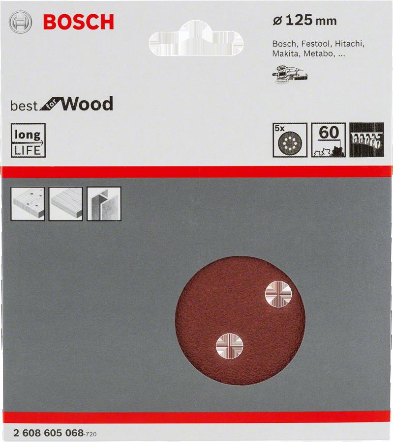���� ������������ � �������� �60 d=125 �� 5 ��, ��������������� Bosch �����
