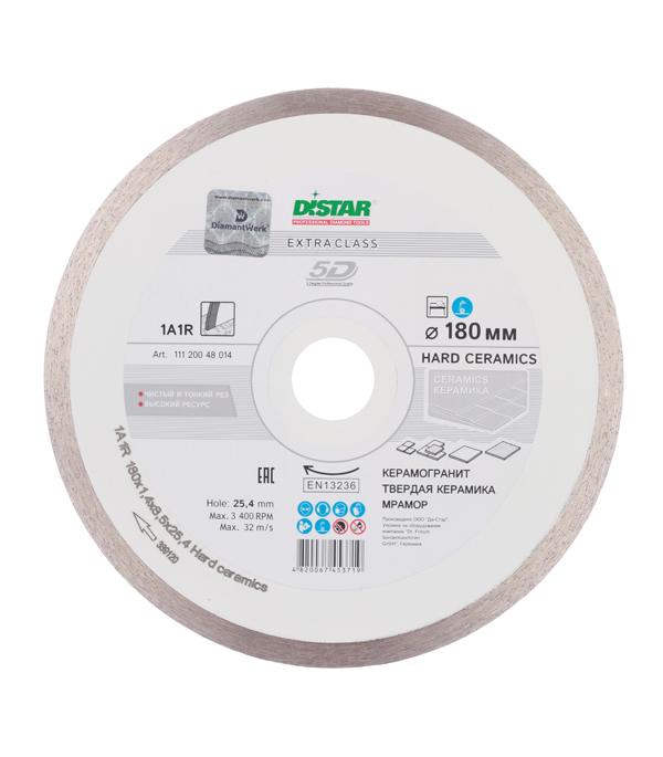 Диск алмазный сплошной по керамике 180x25.4 DI-STAR диск алмазный distar 1a1r 180x25мм hard ceramics