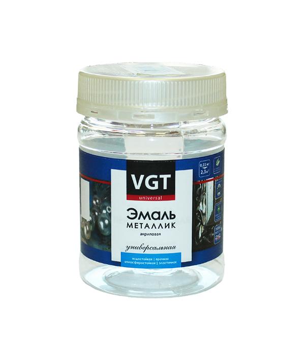 Эмаль акриловая Металлик VGT серебро 0,23 кг