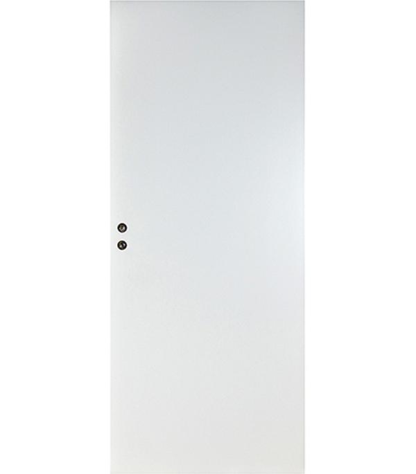 Дверное полотно Верда белое гладкое глухое 7М 620х2036 мм с притвором