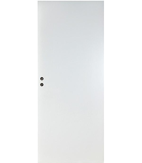 Дверное полотно Верда белое гладкое глухое 8М 720х2036 мм с притвором