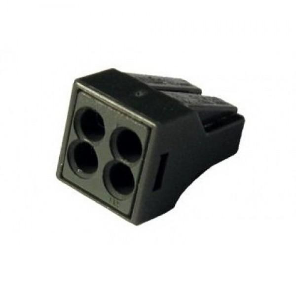 Зажим (клемма) на 4 провода  КБМ-773-304 (0,1-2,5 мм.кв) с пастой, (5 шт), TDM