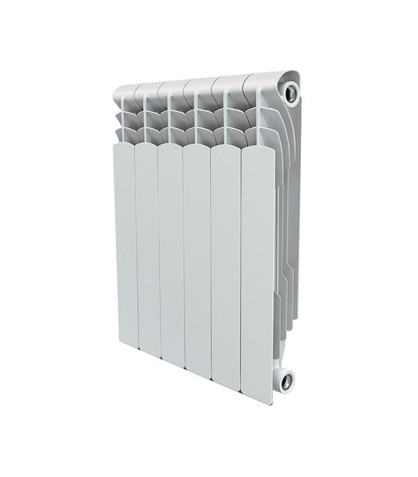 Радиатор биметаллический 1 Royal Thermo Revolution Bimetall 500,  6 секций водяной радиатор отопления royal thermo revolution bimetall 350 8 секц