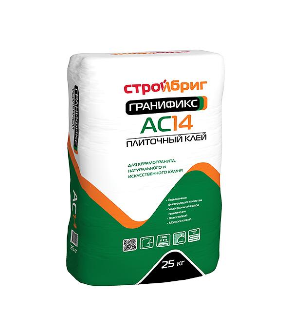 Клей для плитки Стройбриг Гранификс АС14 25 кг стяжка пола стройбриг цемерин fc40 для толстослойного выравнивания 25 кг