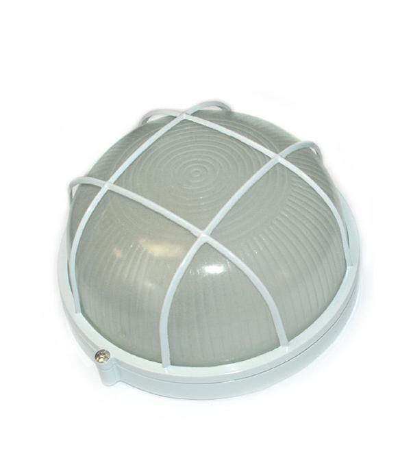Светильник НПБ 60 Вт круглый с решеткой влагозащищенный (IP 54),белый