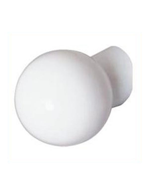 Светильник НББ, шар, косое основание/пластиковый плафон, 60 Вт, IP20, белый