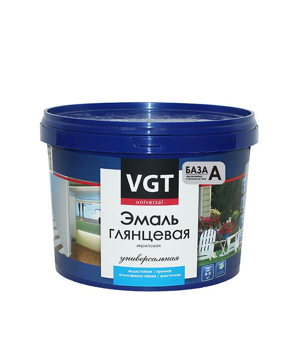 Эмаль акриловая глянцевая супербелая основа А VGT 2,5 кг эмаль акриловая лакра для пола золотисто кор 2 4кг