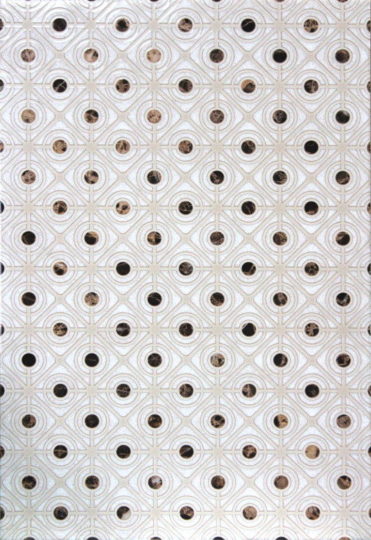 Плитка декор Капри 400х270х8 мм светло-бежевая