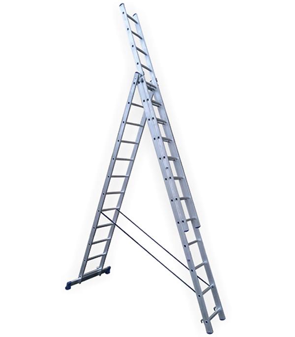 Лестница Stairs 3-х секционная 3х12 лестница алюминиевая 3 х секционная 9 ступеней в спб