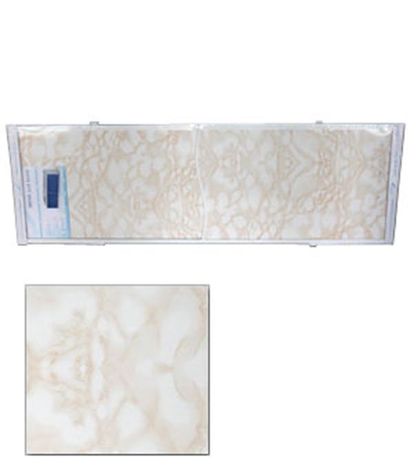 Экран для ванн Оптима пластик кремовый мрамор 1700 мм
