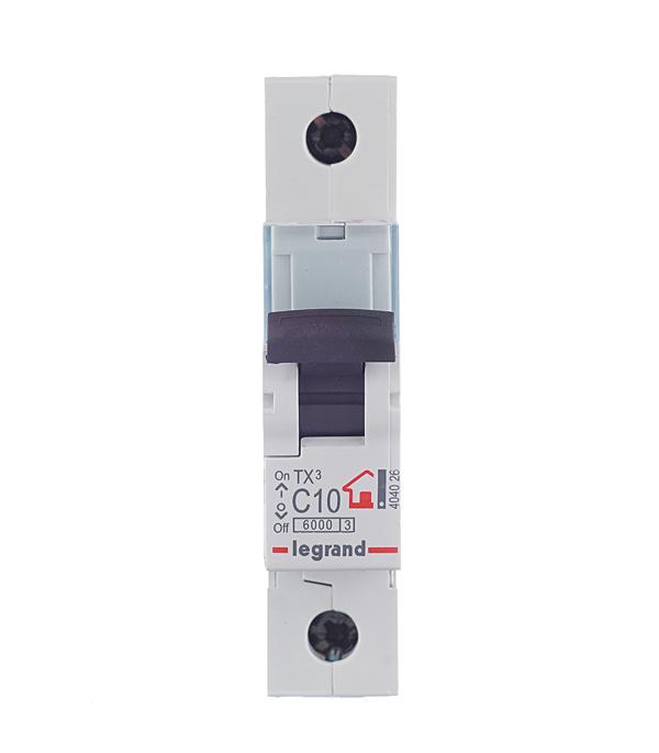 Автомат 1P 10А тип С 6 kA Legrand TX3 дифференциальный автомат 1p n 10а тип c 30 ма 4 5 ka abb dsh941r