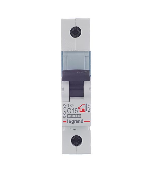 Автомат 1P 16А тип С 6 kA Legrand TX3 дифференциальный автомат 1p n 16а тип c 30 ма 4 5 ka abb dsh941r