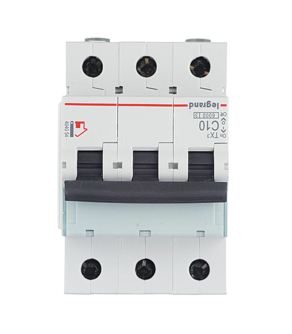 Автомат 3P 10А тип С 6 kA Legrand TX3 автомат 3p 20а тип с 6кa legrand tx3