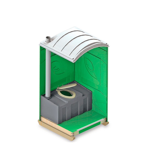Туалетная кабина EcoLight размер душевой кабины 70х70 в кургане