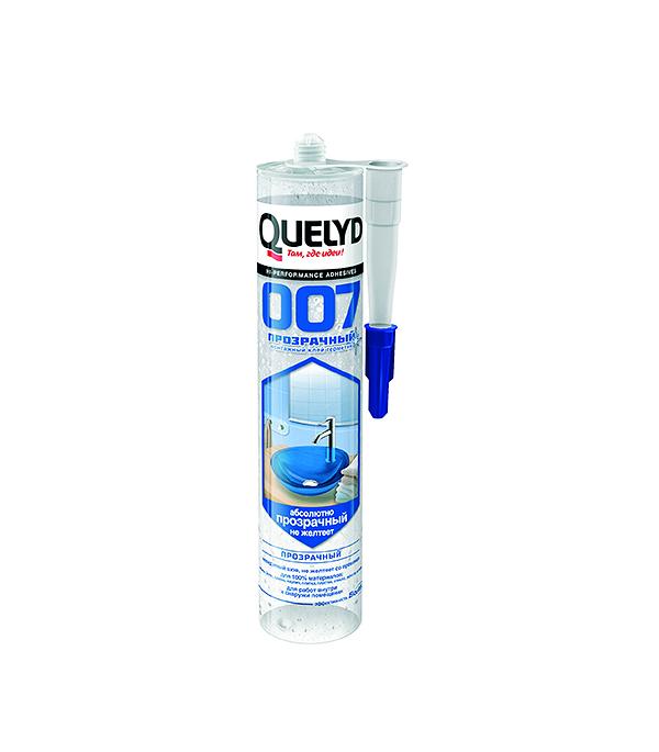 Герметик клей Quelyd 007 прозрачный 300 гр