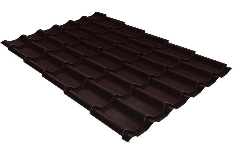 Металлочерепица 1,18х2,25 м толщина 0,5мм Satin коричневая RAL 8017 турбодефлектор era тд 160 окрашеный металл ral 8017 тд 160 8017