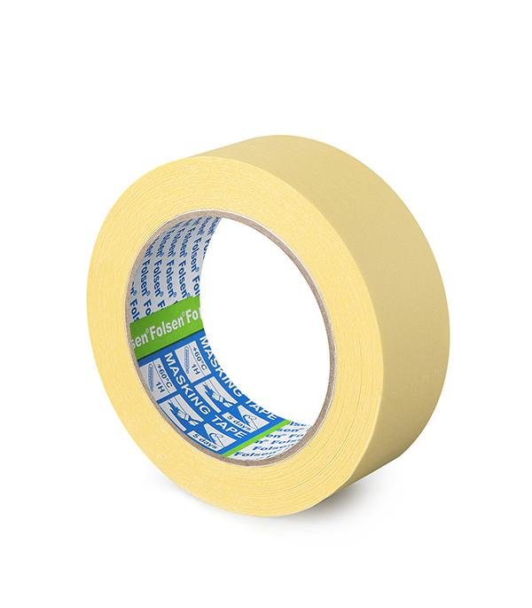 Лента малярная Folsen желтая 38 ммх 50 м лента клейкая двусторонняя folsen ткань 50мм х 5м