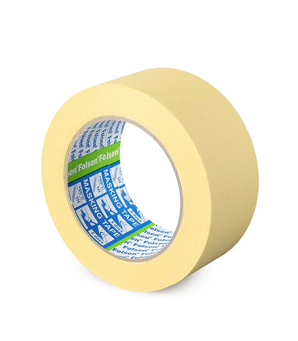 Лента малярная Folsen желтая 50 мм х 50 м лента клейкая двусторонняя folsen ткань 50мм х 5м