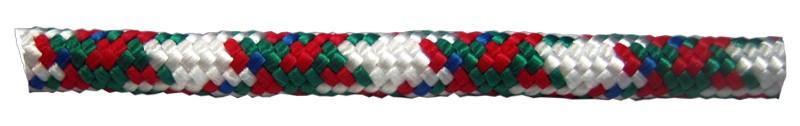 Шнур плетеный цветной  d8 мм полипропиленовый, повышенной плотности (10 м)