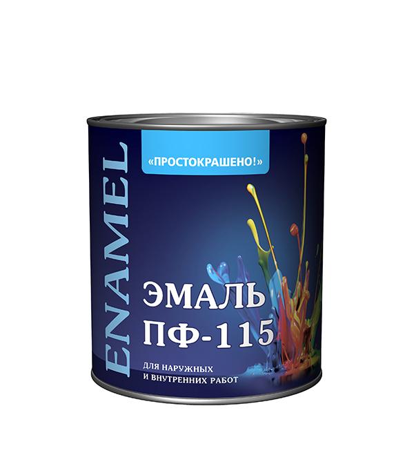Эмаль ПФ-115 коричневая Простокрашено 2,7 кг