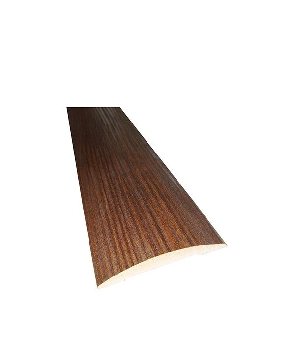 Наличник с 3D покрытием полукруглый в комплекте Каштан 70х2150х10 мм