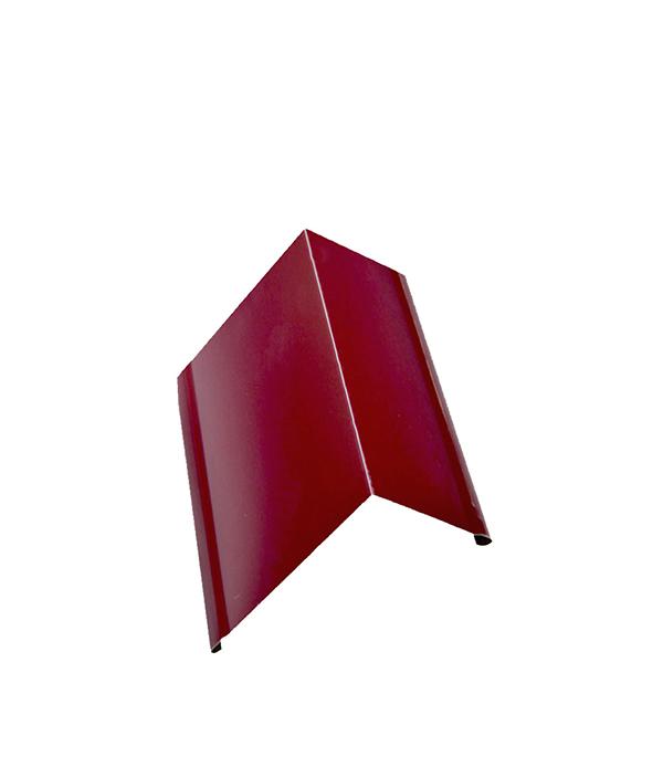 Планка торцевая для металлочерепицы 80х100 мм, 2 м красное вино RAL 3005