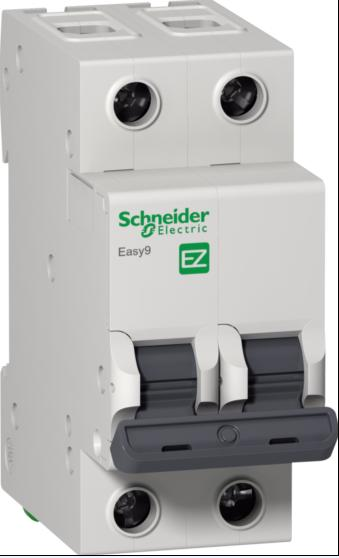 Автомат 2P, 40А, тип С, 4,5кА, Schneider Electric, Easy9