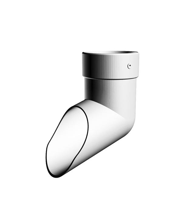 Наконечник пластиковый (слив трубы) d100 мм пломбир, DOCKE LUX заглушка желоба пластиковая универсальная пломбир docke lux