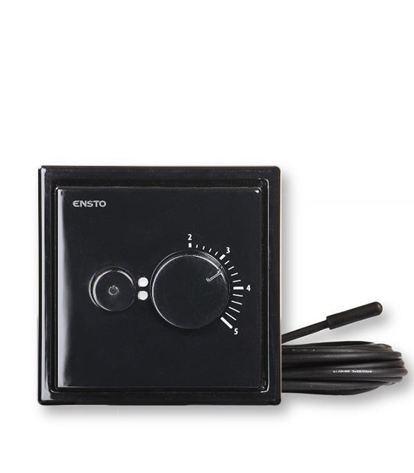 Терморегулятор механический ENSTO Intro Черный терморегулятор для теплого пола теплолюкс тс 402