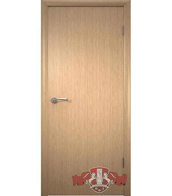 Дверное полотно Соло шпонированное светлый дуб ПГ 600х2000 мм