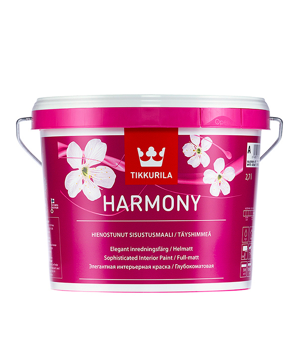 Краска в/д Tikkurila Harmony основа A совершенно матовая 2.7 л fifth harmony acapulco