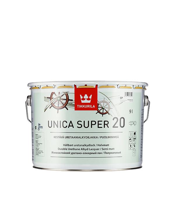 Лак яхтный Unica Super основа EP полуматовый Тиккурила 9 л