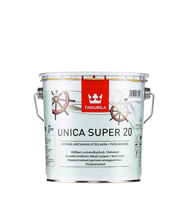 Яхтный лак Tikkurila Unica Super основа EP полуматовый 2.7 л  лак яхтный unica super основа ep полуматовый тиккурила 9 л