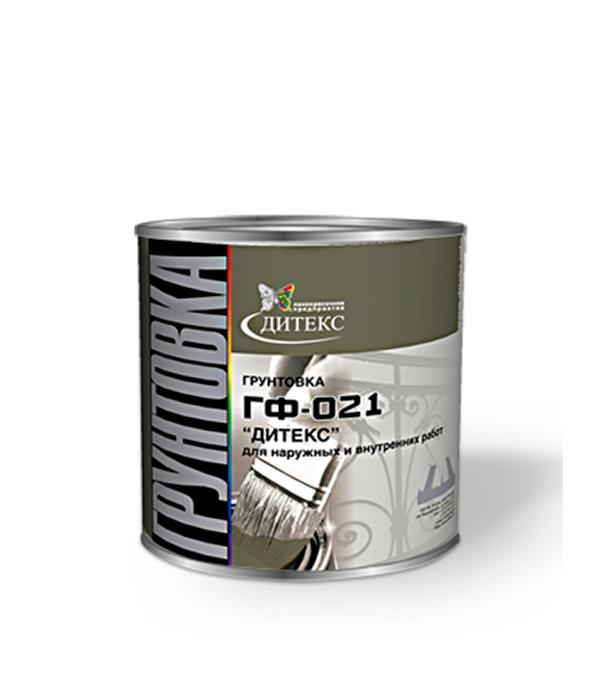 Грунт ГФ-021 красно-коричневый Дитекс 2,6 кг