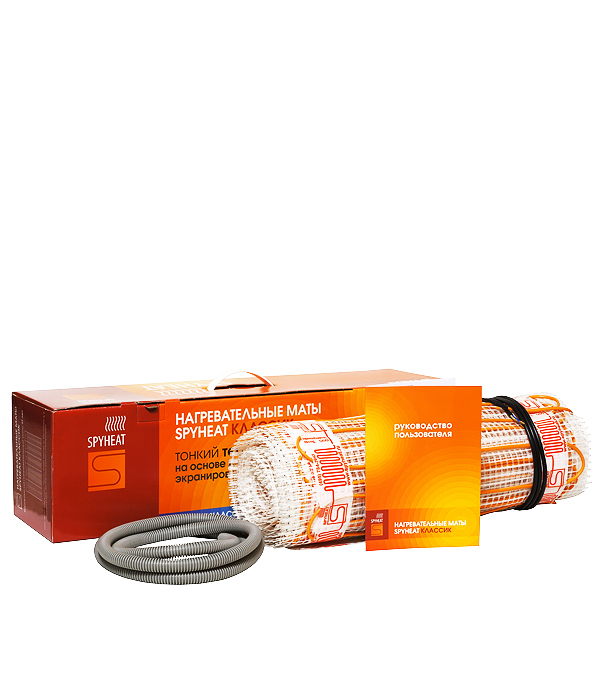 Комплект теплого пола SPYHEAT 2 кв.м 150 Вт (300 Вт) терморегулятор для теплого пола теплолюкс тс 201 белый